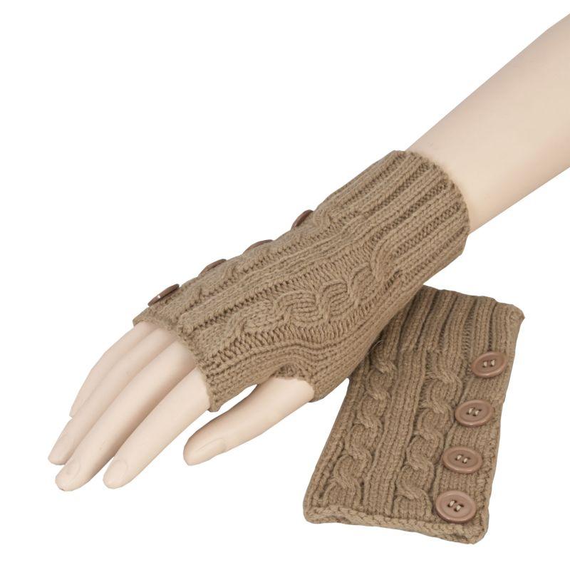 Pletené rukavice bez prstů 0309140b2d