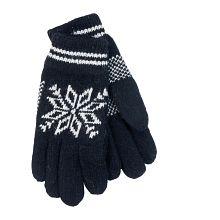 d654645c7ef Pletené rukavice s norským vzorem černé